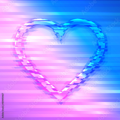 Photo Stands Personal Distorted romantic heart