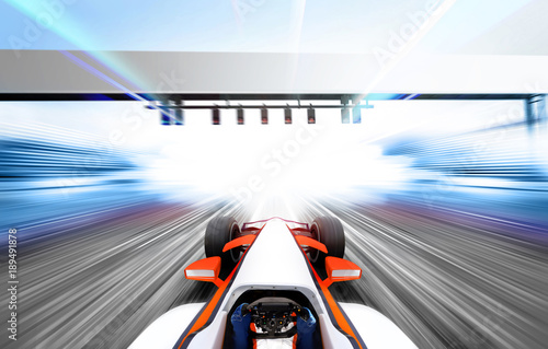 3D illustration of formula one