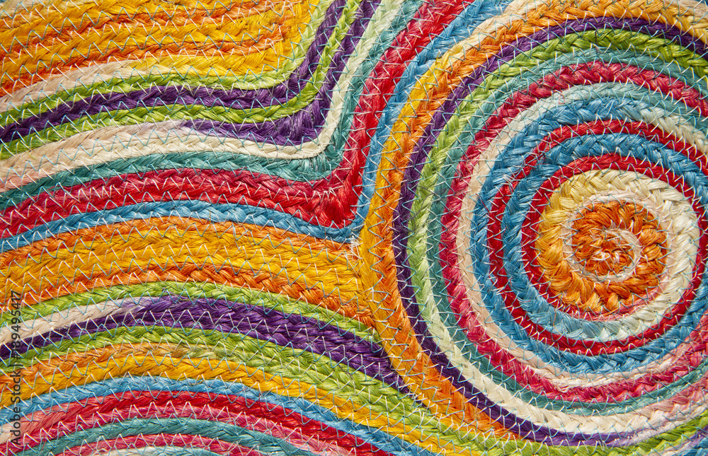 Fototapeta Colorful weave pattern or background