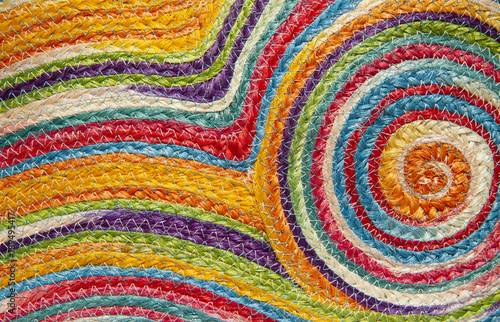 Obraz Colorful weave pattern or background - fototapety do salonu