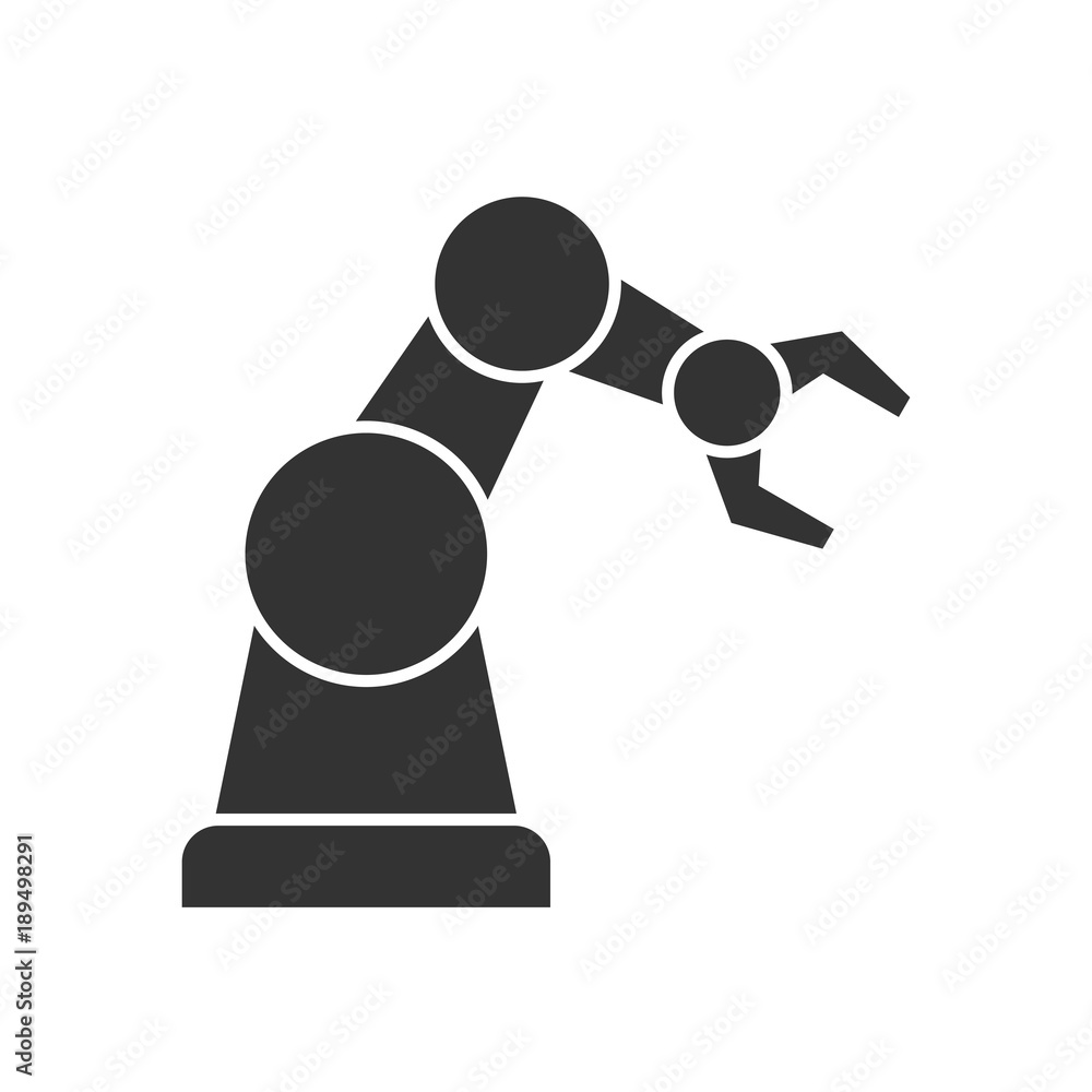 Fototapeta Robotic arm black icon