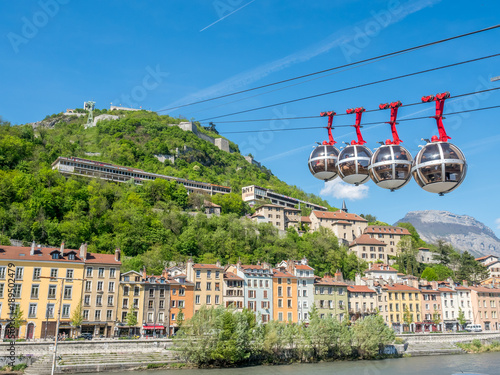 Photo Grenoble-Bastille cable car in France