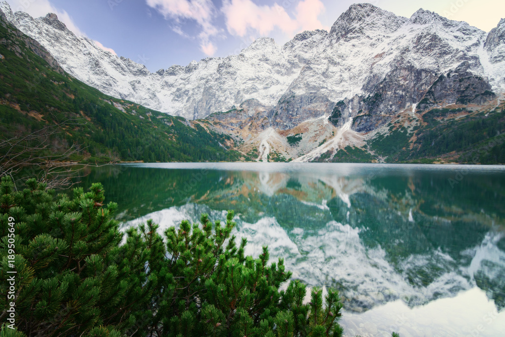 Fototapety, obrazy: Beautiful See Eye lake in High Tatars.