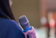 Smart Businesswoman Speech Or ...