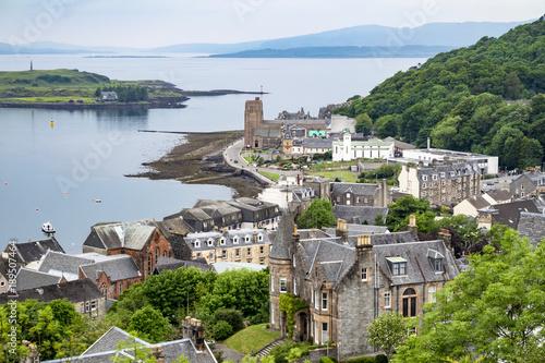 Obraz na płótnie The skyline of Oban, Argyll in Scotland