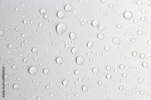 rain day drop water concept white background Wallpaper Mural