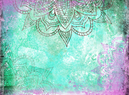 Mandala Background Canvas Print