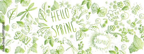 Fotografía Spring doodles background