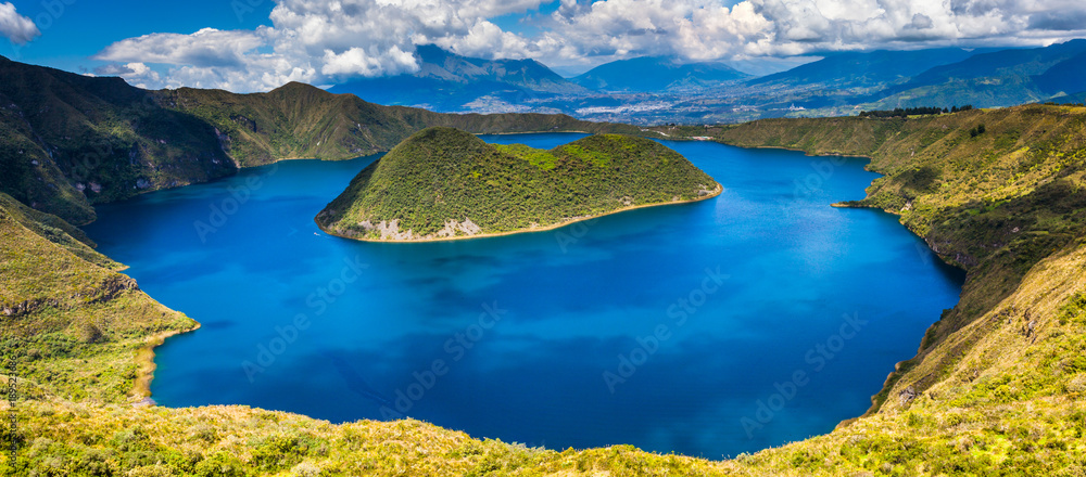 Fototapety, obrazy: Cuicocha lagoon inside the crater of the volcano Cotacachi