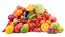 Variety Of Healthy Fresh Fruit...
