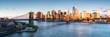 canvas print picture - East River mit Blick auf Manhattan und die Brooklyn Bridge, New York, USA