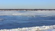 Powerful river does not freeze in winter