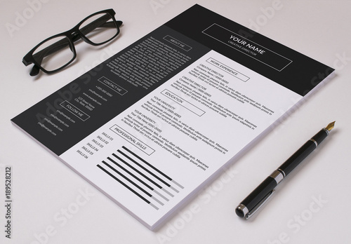 resume set with dark header and sidebar 1  buy this stock template and explore similar templates