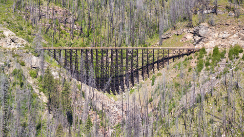 Vászonkép Train trestle on the Kettle Valley Railway near Kelowna, Canada