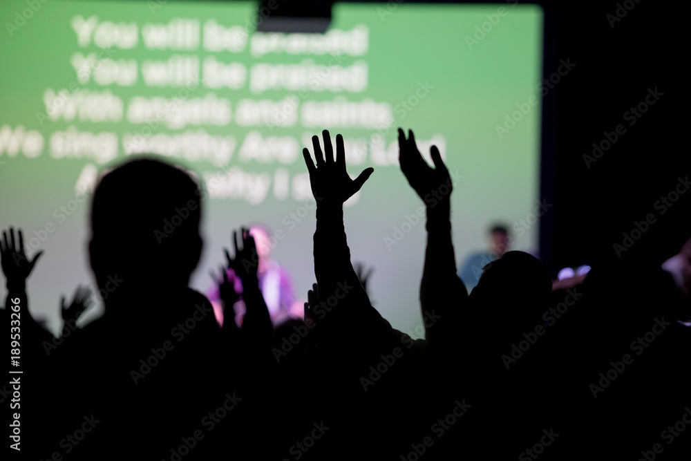 Fototapety, obrazy: Christians Worshipping at Church
