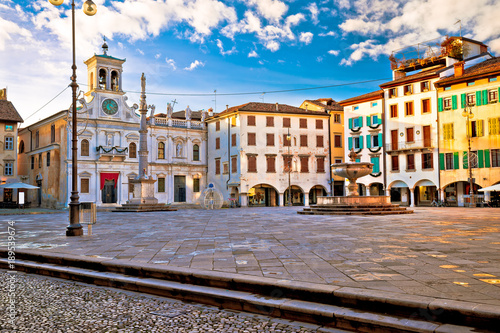 Piazza San Giacomo in Udine landmarks view