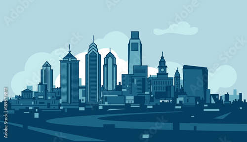 Photo  Philadelphia skyline