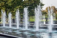 Belgrade, Serbia October 14, 2016: Fountain Near The Church Of St. Sava