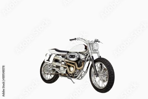 Motorcycle against a white background. Poster