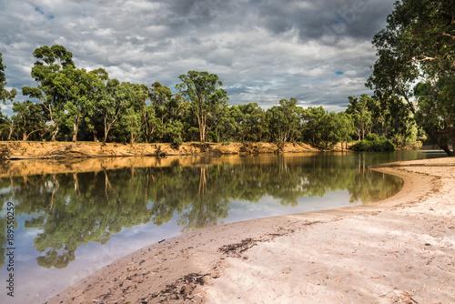 Australian Riverfront Landscape Canvas Print