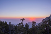 Sunset On Mount San Jacinto, California