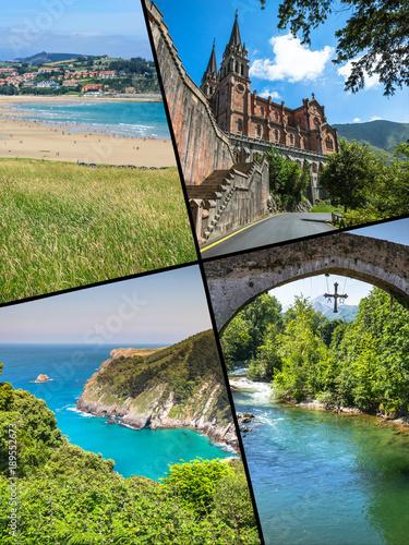 Photo Collage of Asturias Spain