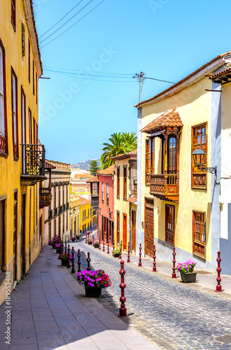 Canvas Prints Narrow alley The city of La Orotava on Tenerife.