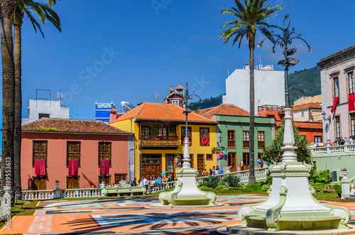 Photo sur Aluminium Iles Canaries La Orotava in the historic city center.