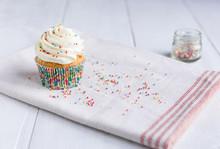 Sprinkled Vanilla Cupcake