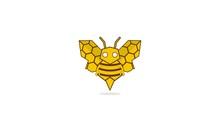 Bee Bot Robotic Illustration Vector Logo