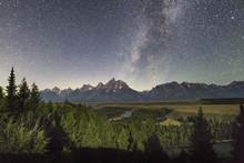 Milky Way And Grand Tetons