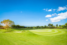 Sand Bunker  On Green Golf Court