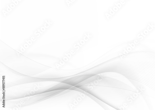 Fotobehang Fractal waves Curve and blend gray and white abstract background 001