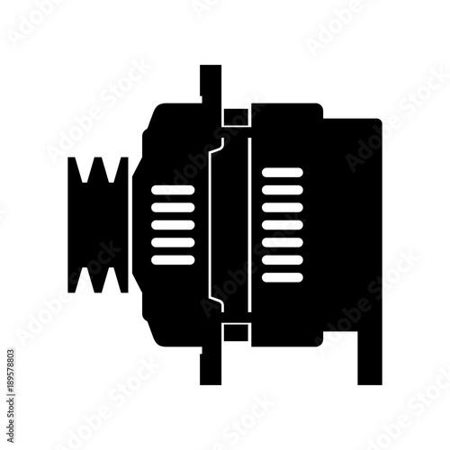 Car automotive alternator, shade picture Canvas Print