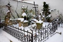 Winter Snowy Cemetery In Prero...