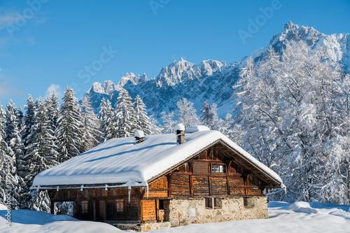 Mont Blanc winter Fototapet