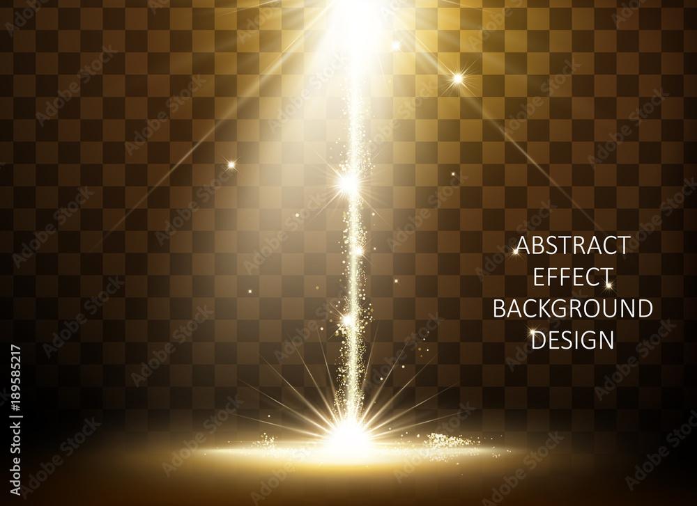Fototapety, obrazy: Glittering golden light effect