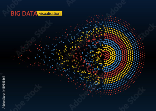 Abstract colorful big data machine learning algorithm visualization Wallpaper Mural