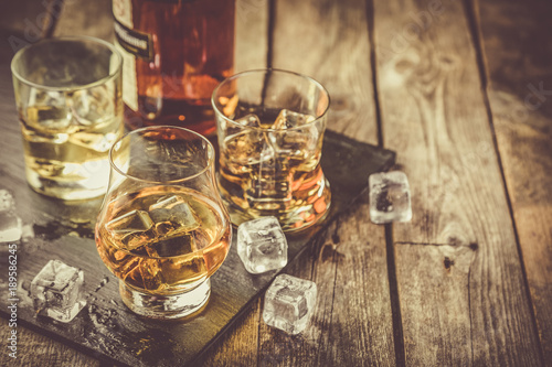 Fotografía  Different types of strong alcohol