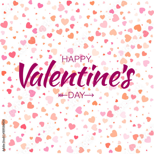 Valentines Day Lettering With Arrow And Seamless Pattern With