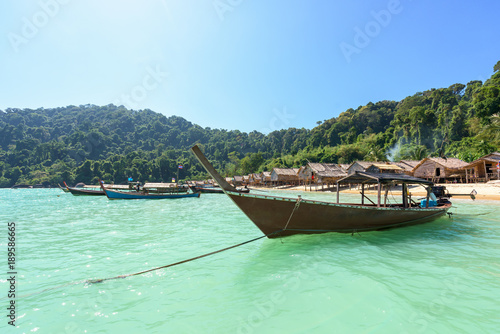 Fisherman's Village in Surin Islands National Park, Thailand.