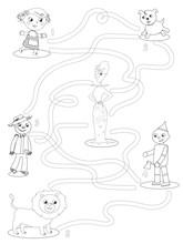 Wizard Of OZ Coloring Maze Gam...
