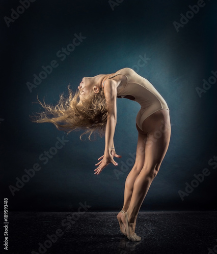 Fotografie, Obraz  One person, gymnastic, dancer, woman in dynamic beautiful action