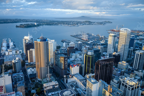 Auckland aerial view, New Zealand Canvas Print