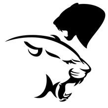 Roaring Cougar Vector Design -...