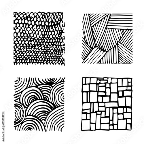 Vector Collection Ink Hand Drawn Texture Lines Hatching