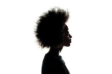 Silhouette Of African American...