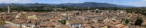 Fotografie, Obraz  Panorama Lucca