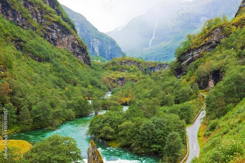 Foto op Canvas Guilin Norwegian mountain scenery