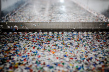 Recycled Plastic Bottles And Waste At The Plant
